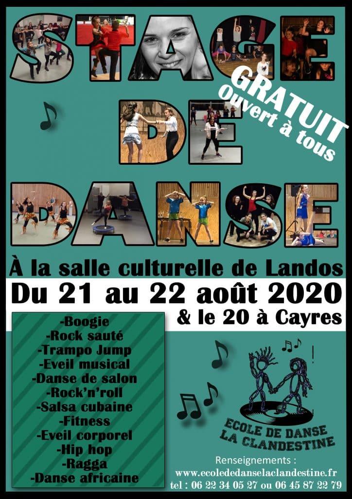 Stages gratuits ouverts à tous, à Cayres et Landos
